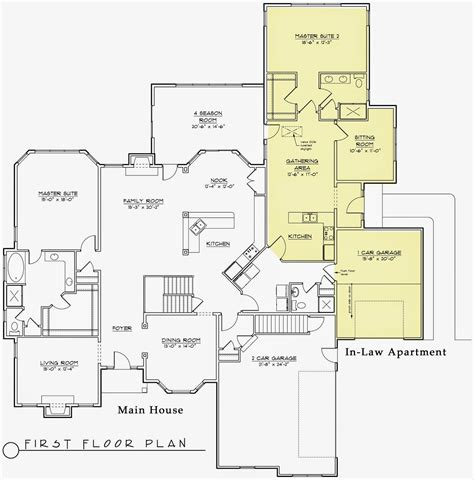 house plans with inlaw suite modern house plans with inlaw suite modern house