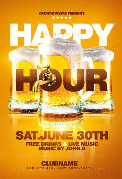 happy hour flyer template photoshop psd creative flyers