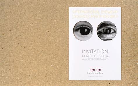 design carte d invitation lunetiers du jura graphiste jura