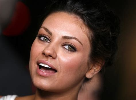 actors of color mila kunis with different colored zimbio
