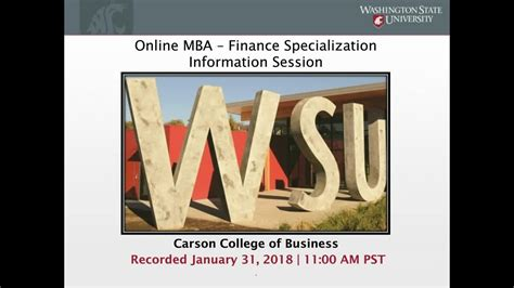 Mba At Wsu by Learn More