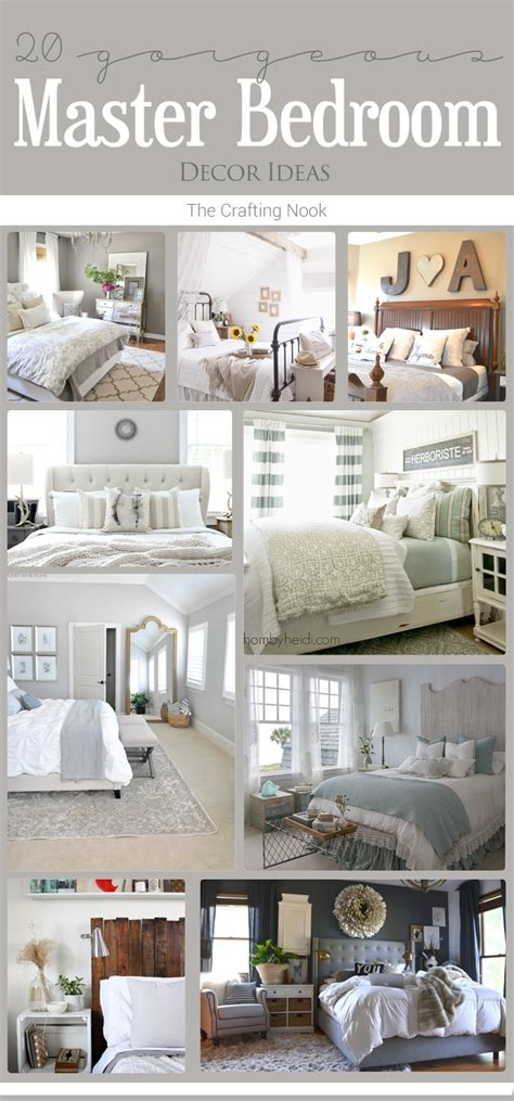 master bedrooms decor ideas 20 master bedroom decor ideas the crafting nook by
