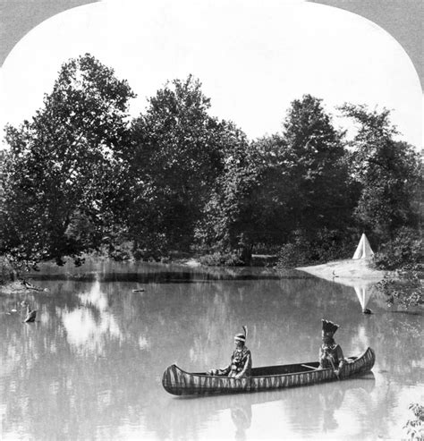 canoes cnv posterazzi canoe c1916 na native american couple paddling