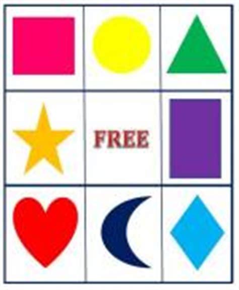 printable shapes bingo printable kids activities lovetoknow