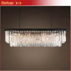 Rectangular Chandeliers Dining Room Aliexpress Buy American Country Chandelier Dining Room Creative Rectangular