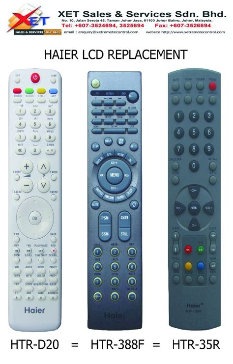 Remot Remote Tv Lcd Led Sanyo Haier xet sales services sdn bhd powered by malaysia newpages