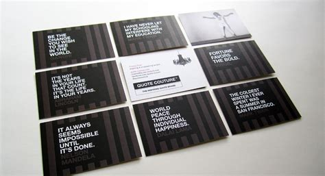 Business Cards With Quotes