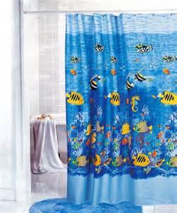 Fish Fabric Shower Curtain » Home Design 2017