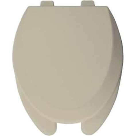 bemis elongated open front toilet seat in bone 1550pro 006