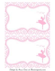 ballerina party free printable invitation