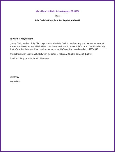 authorization letter for birth certificate nso documents letters sles exles tips