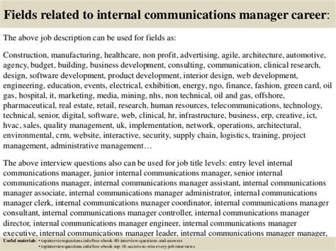 top 10 communications manager questions