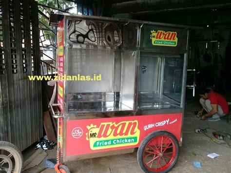 gerobak fried chicken stainless steel pengiriman  bekasi