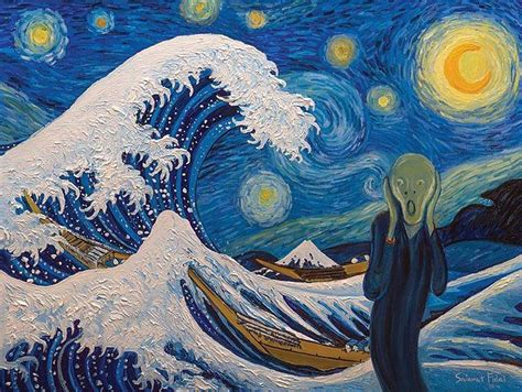9 geeky variations of a starry night by van gogh epic 1000 images about great wave variations on pinterest