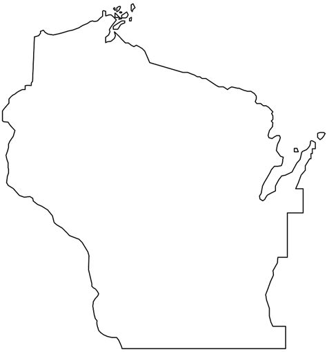 wisconsin map silhouette free vector silhouettes