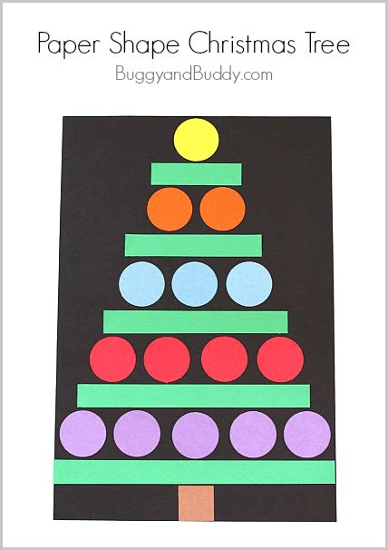 christmas tree craft for kindergarten classroom ideas christmas crafts for kids paper shape christmas tree