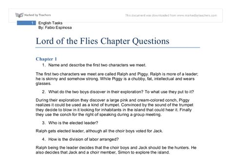 lord of the flies theme discussion questions essay questions for lord of the flies