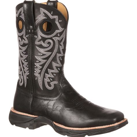 Black Master Boot Rossel Black s black western boot red up rebel by durango