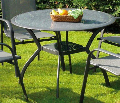 table de jardin en verre table de jardin marina en aluminium et verre 106x7 table de jardin ronde traum garten