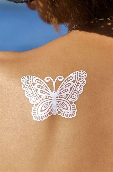 henna tattoo with butterfly details about bohemian gypsy white henna butterfly