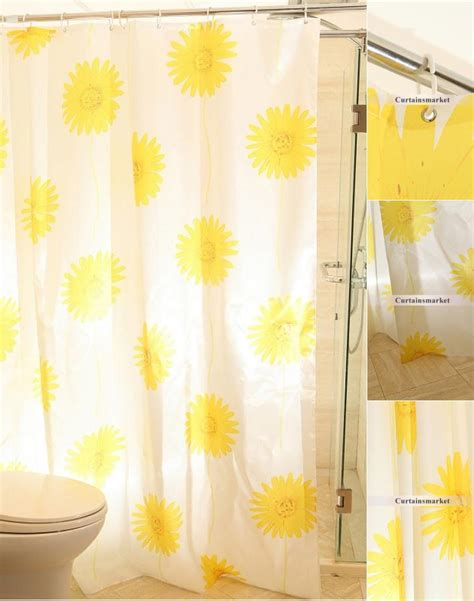 sunflower curtain yellow color beautiful sunflower shower curtain