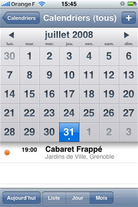 Calendrier Pc Iphone Apple Iphone 3g Le Meilleur Smartphone Sms