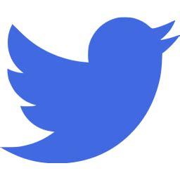 royal blue twitter icon free royal blue social icons