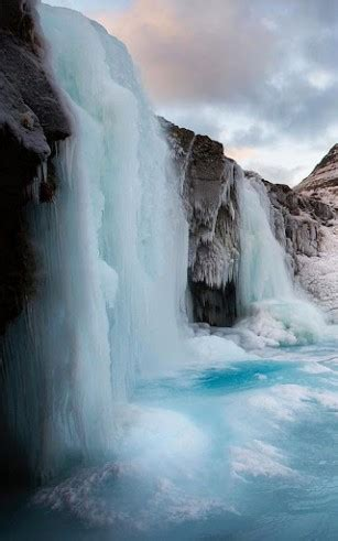 frozen waterfall wallpaper download frozen waterfall wallpaper for android by hq