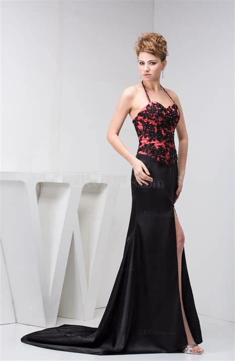 black sexy evening dress long glamorous allure pretty