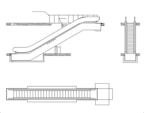 escalator section free escalator elevation free cad blocks drawings