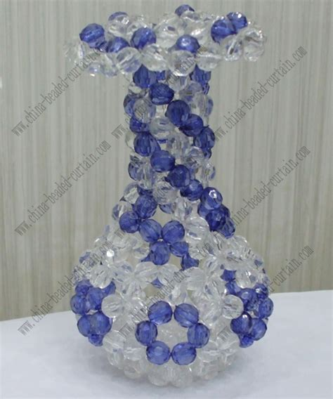 Bead Vase by Wedding Clear Blue Beaded Vase Drop Decoration Chr Cbv009