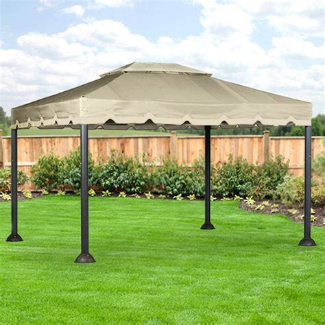 10 X 12 Patio Gazebo Garden Winds 10 X 12 Garden House Gazebo Replacement Canopy Riplock 350 Ebay