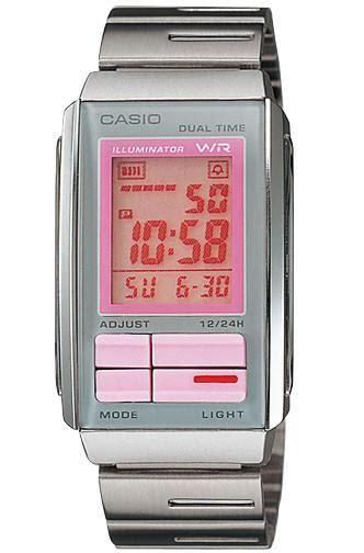 Casio Futurist La 201w 4a2 Casio Original For Womens casio la 201w 4a2 steel futurist lcd great watches