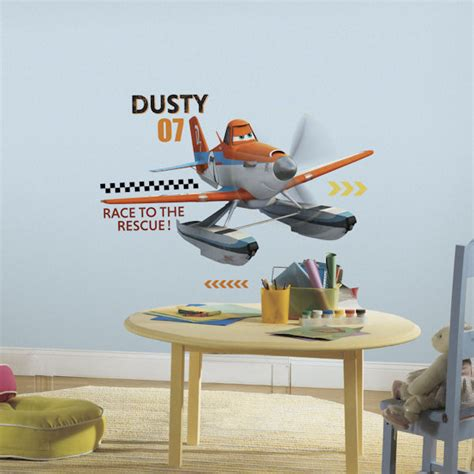 planes wall stickers planes and rescue dusty wall decals