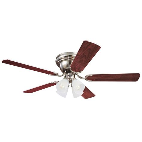 Westinghouse Light Ceiling Fan Icon Westinghouse Contempra Iv 52 In Brushed Nickel Ceiling