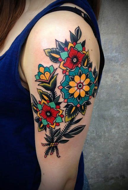 traditional tattoo flowers traditional tattoos 100 all time greatest traditional