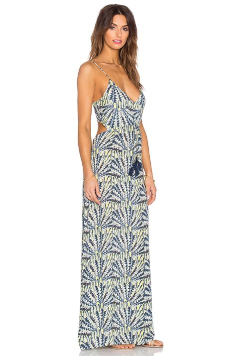 Maxi Shofia sofia by vix cut out maxi dress in yellow lyst