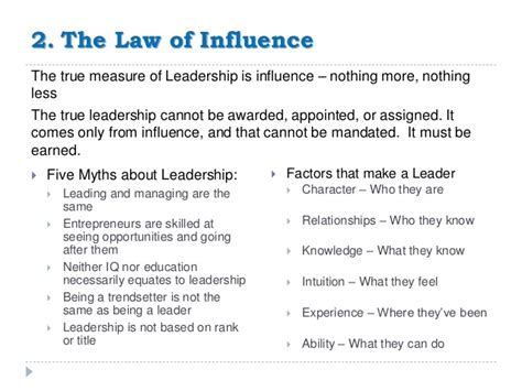 21 irrefutable laws of leadership notes review vialogue