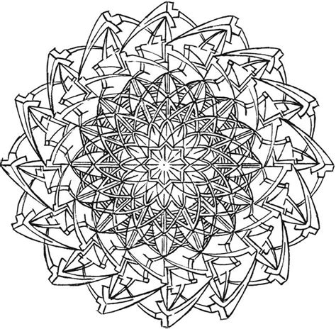 free coloring pages kaleidoscope designs welcome to dover publications mandalas pinterest