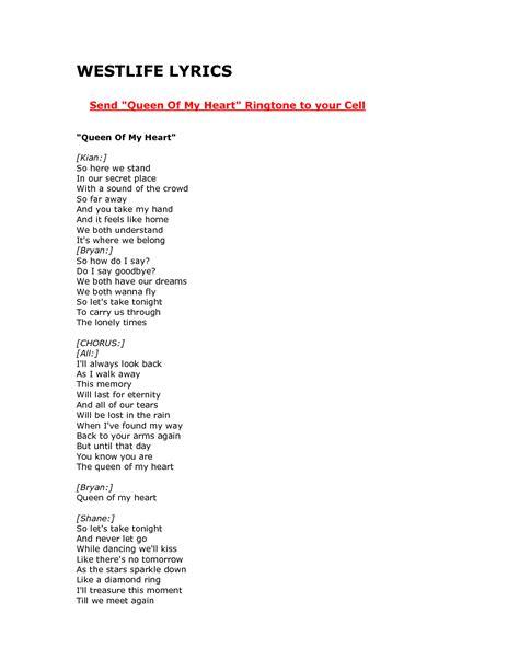 home westlife lyrics