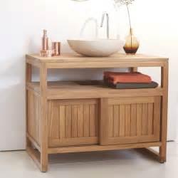 indogate salle de bain orange et bois