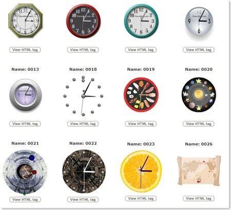 membuat jam digital pada web skywalkerz cara membuat jam pada blog