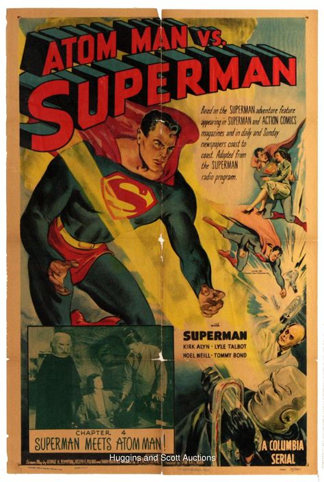 the lobby books original 1948 superman lobby card and 1950 poster