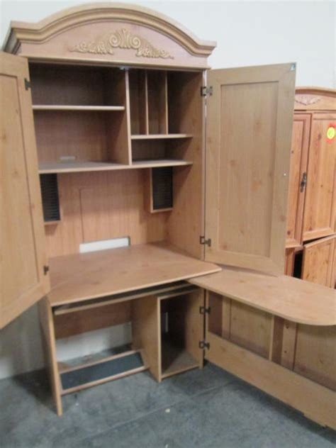 Used Armoire Furniture by Hoppers Office Furniture Used Armoire Desk