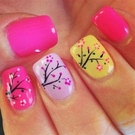 spring pattern nails summer acrylic nail designs