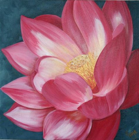 how to paint acrylic on canvas flowers manjari s lotus flower by kaye lake