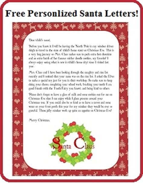 printable personalized letters from santa free personalized printable santa letters enchanted