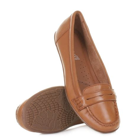flat leather shoes for womens hush puppies ceil loafer shoes
