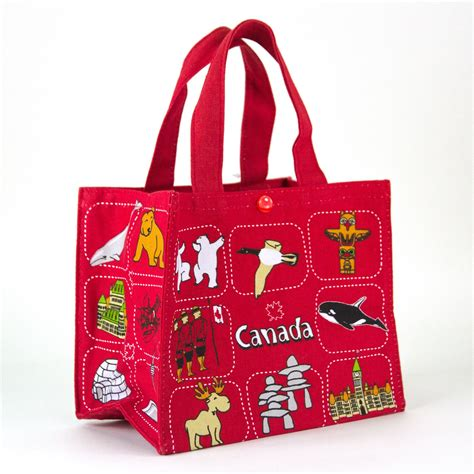Interior Colour Of Home by Canada Souvenirs Gifts Little Canadian Symbols Lunch Bag