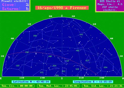 astro cielo testo il cielo 232 diverso alla stessa ora di giorni diversi